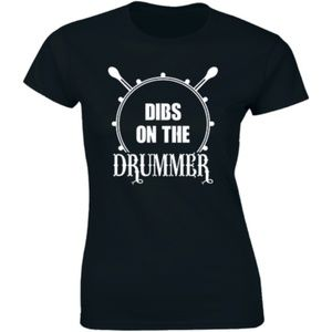 Dibs On The Drummer Drumming Music Band T-shirt